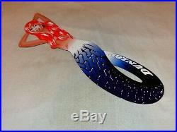 Vintage Dunlop Tires Red Head Mermaid Woman Die-cut 30 Metal Gasoline Oil Sign