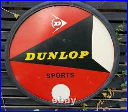 Vintage Dunlop Tyres Cycle Advertising Sign And Original Vintage Dunlop Tyre