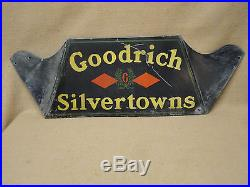 Vintage Early Original Goodrich Silvertowns Advertising Tire Display Stand Sign