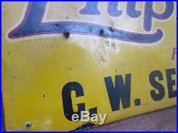 Vintage Early Tin Empire Tire & Tubes Sign Waynesboro PA CW Sexton 1913