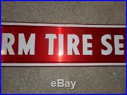Vintage FIRESTONE Farm Tire Service Advertising Gas Oil Brace Sign & Co SIGN