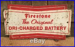 Vintage FIRESTONE Gas Service Station Tire DRI CHARGED BATTERY Display Sign