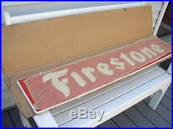 Vintage FIRESTONE TIRE Dealer Gas Station Store Advertising SIGN NOS