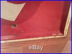 Vintage FIRESTONE TIRES BOWTIE VERTICAL Gas Station Advertising Metal SIGN