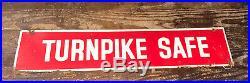 Vintage Firestone Hanging Metal Signs Speedway Proved Turnpike Safe