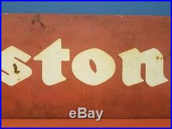 Vintage Firestone Heavy Metal Garage Gas & Oil Tires 34 Advertising Sign