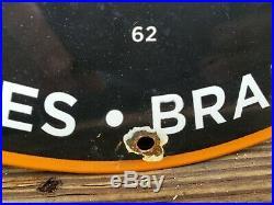 Vintage Firestone Porcelain 1962 Sign Tires Spark Plugs Batteries Brakes Parts