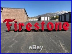 Vintage Firestone Sign attached to Heavy Duty Steel Beam