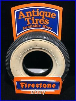 Vintage Firestone Store Countertop Advertising Display Sign Salesman Sample