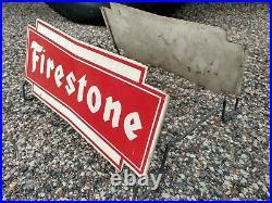 Vintage Firestone Tire Display Rack Stand Gas Station Shop Garage Antique Sign