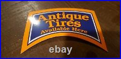 Vintage Firestone Tire Display Sign Service Station Garage Antique Advertising