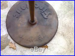 Vintage Firestone Tire and Rubber Co Sign Holder Stand Cast metal