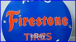 Vintage Firestone Tires Gasoline Porcelain Sign Gas Station Pump Plate Motor Oil