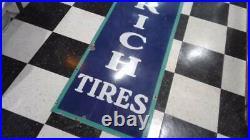 Vintage GOODRICH TYRE Porcelain Tire Sign 1930s Excellent 94 x 22