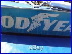 Vintage GOODYEAR TIRE SIGN Double Sided Service Station Gas Oil Advertising