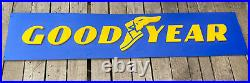 Vintage GOODYEAR TIRE Sign Gas Station Rare Collectible 14 X 6 Wingfoot