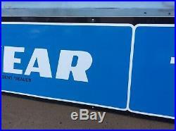 Vintage GOODYEAR TIRES 10ft Dealer Sign Gas & Oil