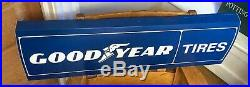 Vintage GOODYEAR TIRES SIGN 36 x 10 3/4 from Light Up Sign GREAT CONDITION