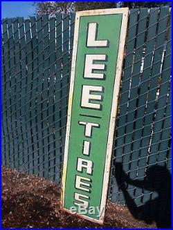 Vintage Garage Lee Tire Sing Metal 6' x 18 Original