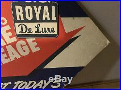 Vintage Garage Tire Sign Us Royal Tires Tire Display Old Original De Luxe