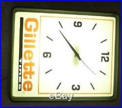 Vintage Gillette Tire Dualite Advertiser wall Clock works antique sign US made