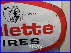 Vintage Gillette Tires Metal Sign