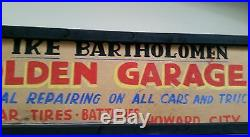 Vintage Golden Garage Howard City Michigan framed sign Goodyear tires
