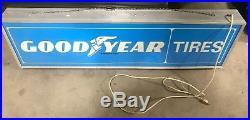 Vintage Good Year Tire Dbl Sided Lit Lighted Dealer Sign