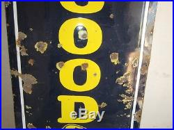 Vintage Good Year Tires Porcelain Enamel Sign Auto Related Collectibles Genuine
