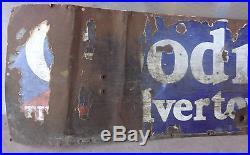 Vintage Goodrich Sign 58 Silverton Tires Tubes Porcelain