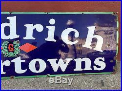 Vintage Goodrich Silvertowns Porcelain Sign