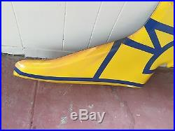 Vintage Goodyear Auto Tires Wing foot Porcelain Sign. Near Perfect RARE