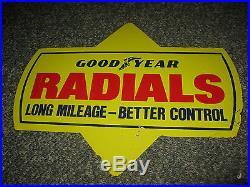 Vintage Goodyear Radials Tire Sign