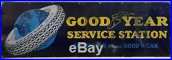 Vintage Goodyear Service Center Metal / Porcelain Sign
