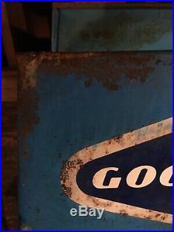 Vintage Goodyear Tire Heavy Duty Folding Metal Stand Rack Holder Store Display