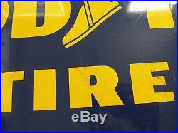 Vintage Goodyear Tire Sign Old Gas Station Garage car truck Tires 1958 Original