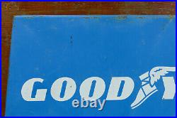 Vintage Goodyear Tire Sign Original Store Display Stand 2 Oil Gas Station Signs