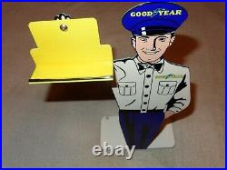 Vintage Goodyear Tires 12 X 6 Metal Business Card Holder Gasoline & Oil Sign