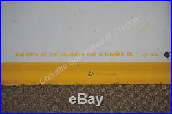 Vintage Goodyear Tires 30x59.75 Sign G-84 Chevrolet Dealership Dealer GM OK