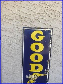 Vintage Goodyear Tires 60 Porcelain Dealership Sign Very Heavy
