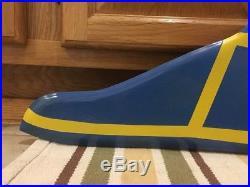 Vintage Goodyear Tires Flying Foot Gas Oil 31 Porcelain Metal Sign Shoe Decor