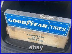 Vintage Goodyear Tires Gas Service Station 36 Double Sided Lighted Sign Works