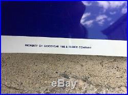 Vintage Goodyear Tires Metal Dealer Advertising Sign Huge 8 Feet Near Mint Cond