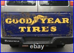 Vintage Goodyear Tires Porcelain Double Sided Sign