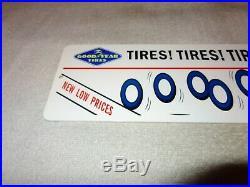 Vintage Goodyear Tires & Sinclair Dino Dinosaur 15 Metal Gasoline & Oil Sign