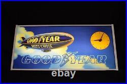 Vintage Goodyear clock sign blimp dealer advertising Works