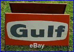 Vintage Gulf Tire Display Rare Gas Station Oil Sign Original