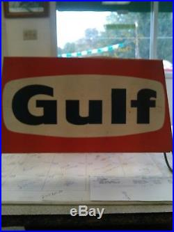 Vintage Gulf Tires Tire Display Stand Rack. Oil Gas Petroliana Sign