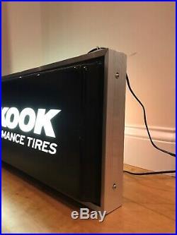 Vintage Hankook Performance Tires Hanging Lighted Sign large