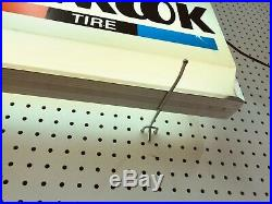 Vintage Hankook Tire Double Sided Lighted Advertising Shop Sign